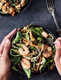 Shrimp kale zucchini salad | Eat Good 4 Life