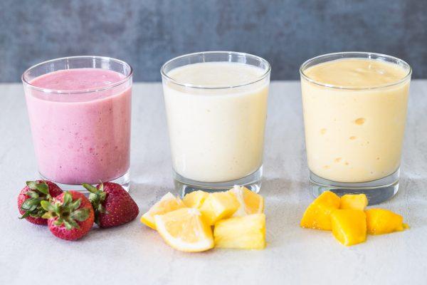 Yogurt protein smoothie 3 ways   Eat Good 4 Life