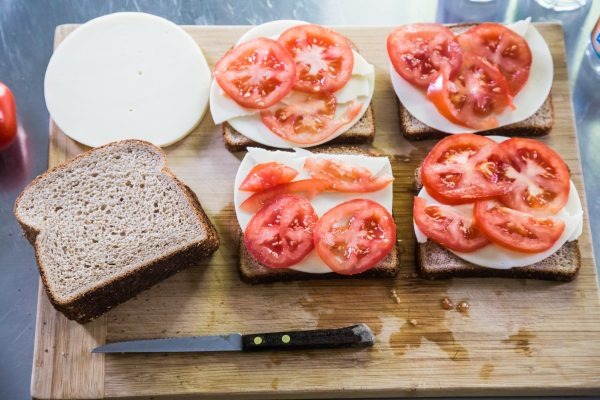 Grilled cheese tomato sandwich