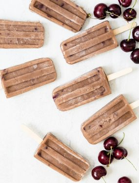 Chocolate cherry protein popsicles | Eat Good 4 Life