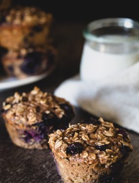 High protein baked blueberry cups | Eat Good 4 Life