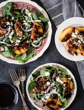 Grilled peach salad   Eat Good 4 Life