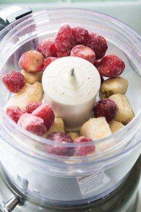 Dairy free banana strawberry ice cream   Eat Good 4 Life