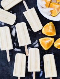 Vegan creamsicle popsicles | Eat Good 4 Life