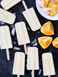 Vegan creamsicle popsicles | Eat Good 4 Life