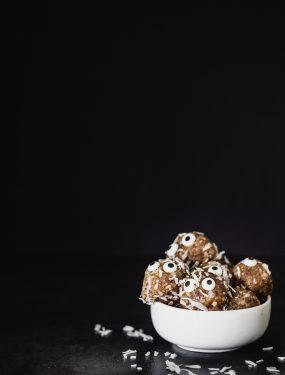 Halloween coconut date bites | Eat Good 4 Life