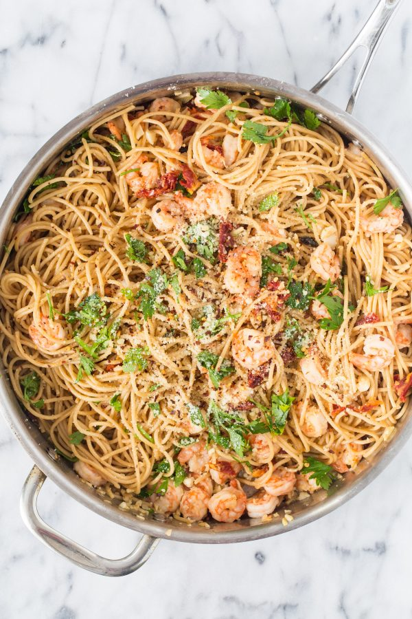 Shrimp Scampi With Sun-Dried Tomatoes And Artichokes Recipe ...