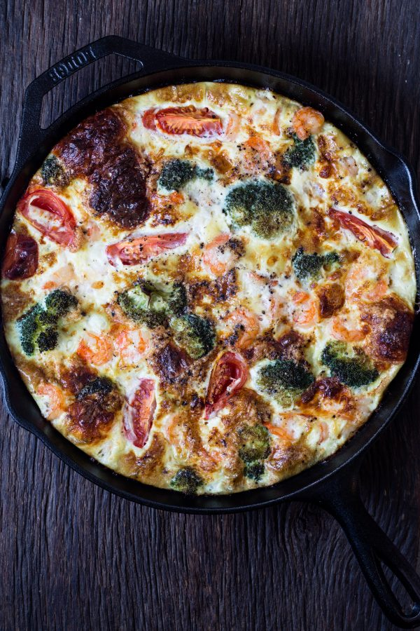 Shrimp broccoli frittata | Eat Good 4 Life