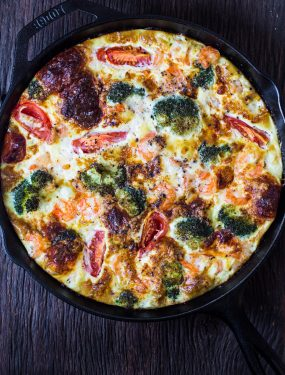 Shrimp broccoli frittata | Eat Good 4 Life