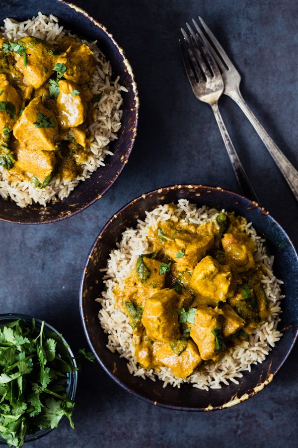 Slow cooker turmeric chicken with spinach   Eat Good 4 Life