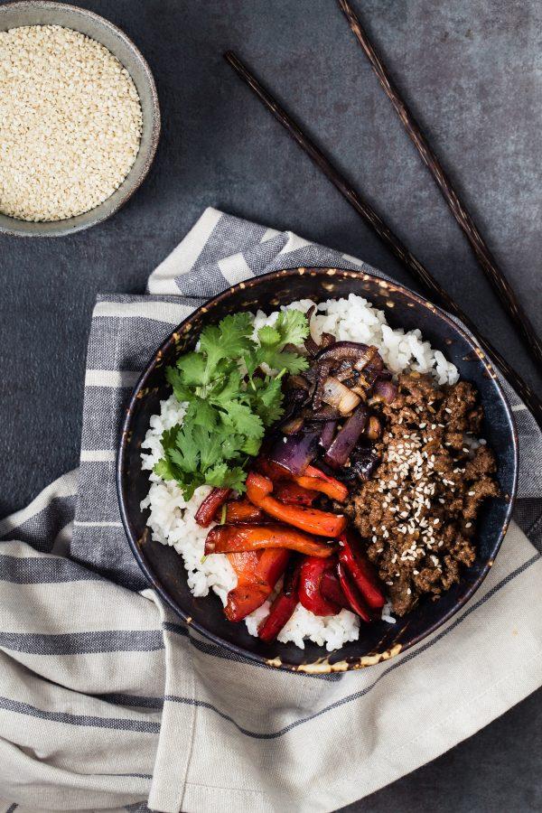 Asian Beef Rice Bowls   Eat Good 4 Life