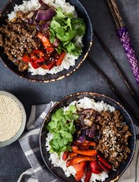 Asian Beef Rice Bowls | Eat Good 4 Life