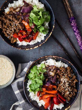 Asian Beef Rice Bowls | Eat Good 4 Life
