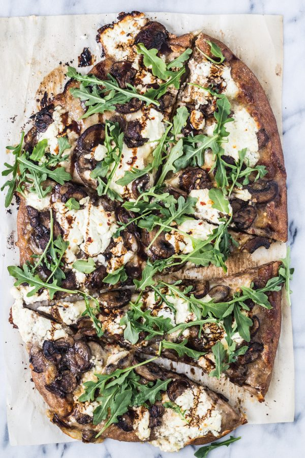 Caramelize mushroom arugula pizza | Eat Good 4 Life