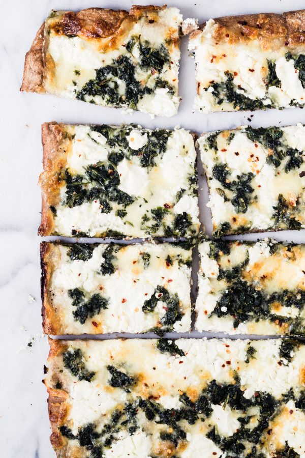 Whole wheat spinach goat cheese pizza | Eat Good 4 Life