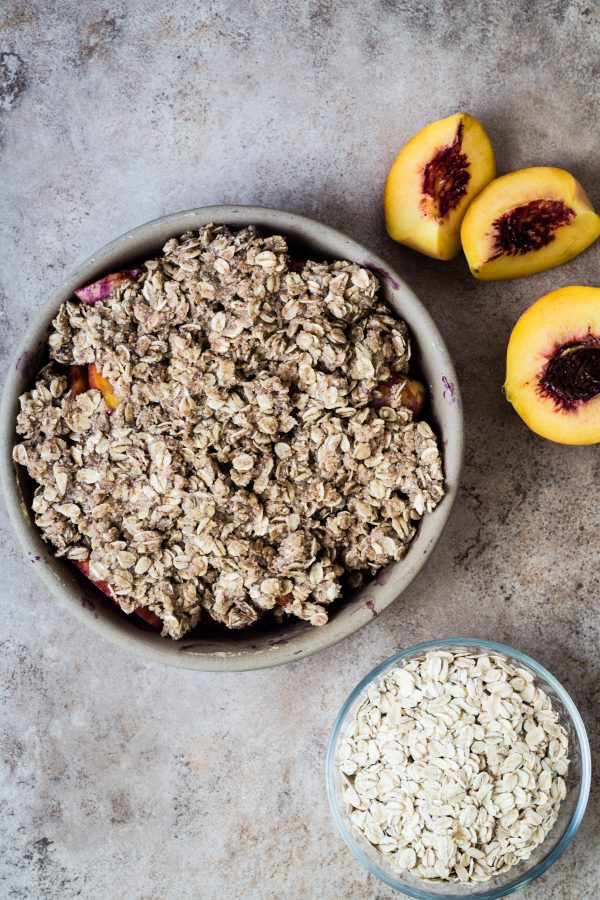 Blueberry peach crumble | Eat Good 4 Life