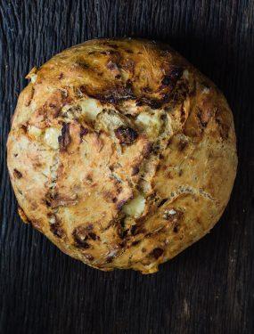 super easy asiago sun dried tomato bread | Eat Good 4 Life