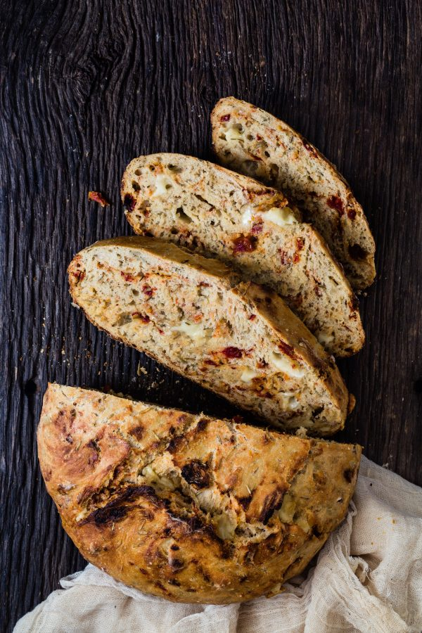 super easy asiago sun dried tomato bread | Eat Good 4 Life