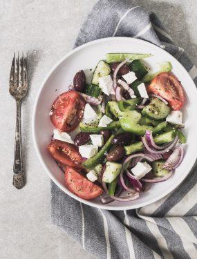 Super simple Greek salad | Eat Good 4 Life