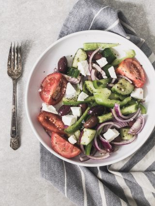 Super simple Greek salad | Eat Good 4 Life