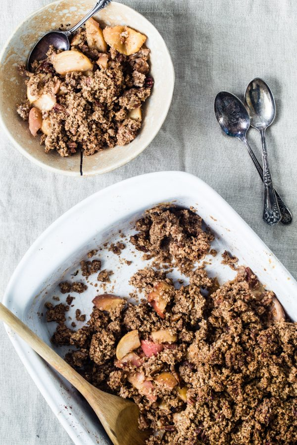 Gluten free apple pecan crisp | Eat Good 4 Life