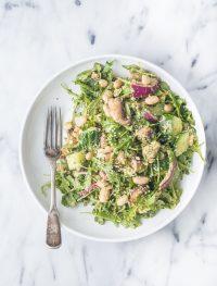 High protein white bean arugula salad | Eat Good 4 Life