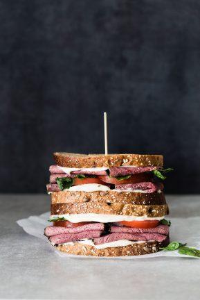 Pastramy watercress tomato sandwich | Eat Good 4 Life