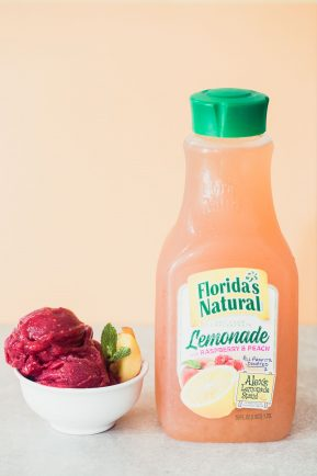 raspberry peach lemonade sorbet | Eat Good 4 Life