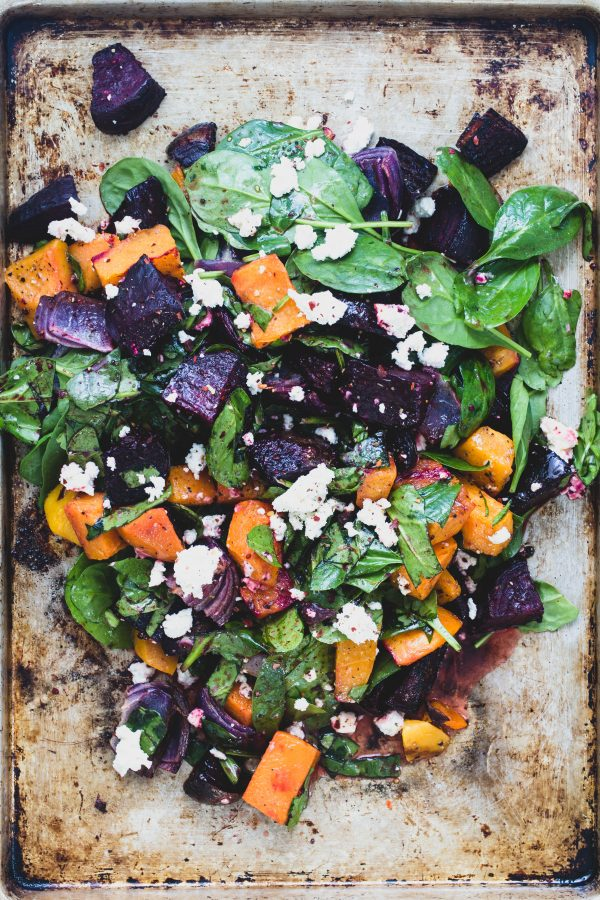 Eat Good 4 Life | Roasted vegetable salad with orange vinaigrette