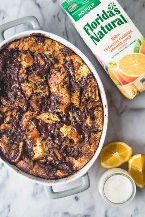 eat good 4 life | Dark chocolate orange bread pudding