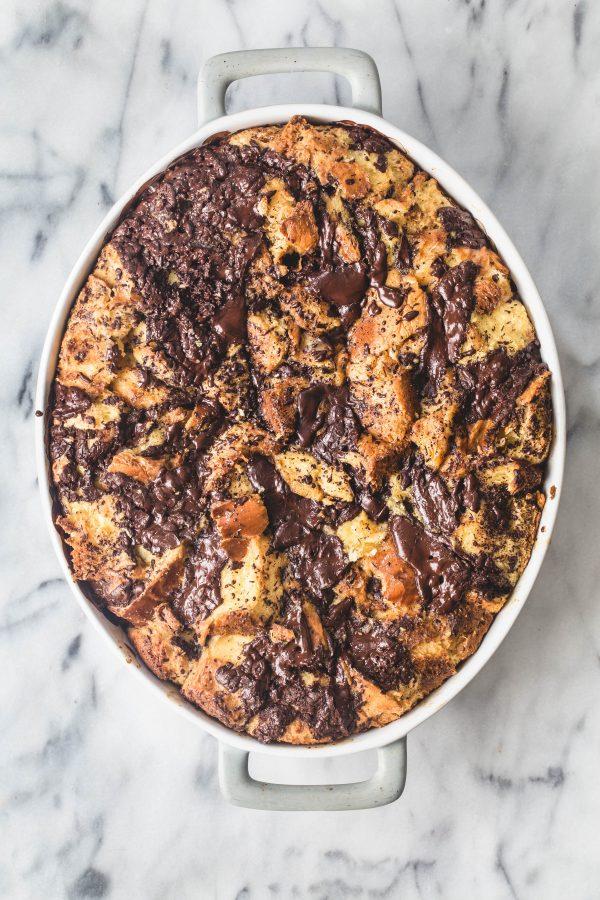 eat good 4 life | Dark chocolate orange bread pudding